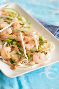 Shrimp and Noodles with Coconut-Peanut Sauce