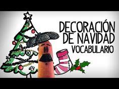 Decoración de Navidad, vocabulario español - YouTube