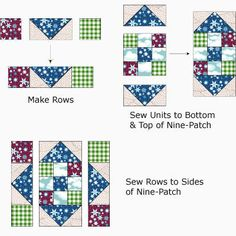 Comforts of Home Quilt Block Pattern. I have to try this block.