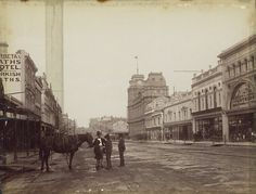 Bourke Street looking west (State Library Victoria Collections) Tags: streets australia melbourne vic Melbourne Suburbs, Melbourne Cbd, Melbourne Victoria, Victoria Australia, Melbourne Australia, Melbourne Weather, Brisbane, Street Look, Street View
