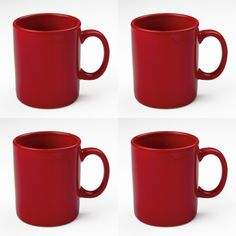 Classic Mug Red Set Of 4 now featured on Fab.