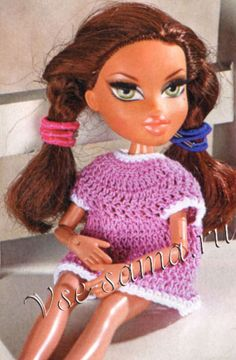 Pink dress for Bratz dolls