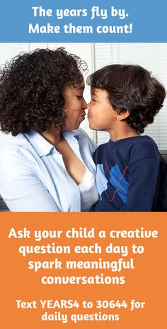 Get surprising, funny, insightful answers from your kids when you ask them a creative question each day. By signing up, you agree to receive text messages from ParentsTogether Foundation and ParentsTogether Action that include Q4KIDZ questions and important info for families. Message and data rates may apply. Text STOP to end and HELP for help. U.S. only.