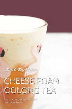 Cheese tea is a cup of cold tea topped with a foamy layer of milk and cream cheese and sprinkled with salt. The drink is sweet and has a savoury finish. It is very refreshing and addictively delicious!​ This is a great drink that you could easily make at home. It is an authentic Chinese cuisine recipe with simplified steps and ingredients required! Check out our website where could you find the written step by step recipes with images and videos to teach you how to become a better cook at… Healthy Recipes For Weight Loss, Easy Healthy Recipes, Easy Dinner Recipes, Easy Family Meals, Group Meals, Easy Meals, Fun Cooking, Cooking Recipes, Incredible Recipes