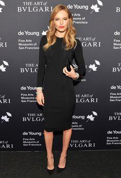 Knee-length black dress