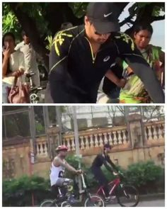 Watch what happened when Sidharth decided to bike around the city!