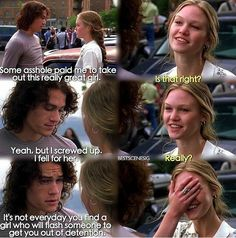 10 Things I Hate About You - 1001 Movie Quotes - - 10 Things I Hate About You – 1001 Movie Quotes Quotes 10 Dinge, die ich an dir hasse – 1001 Filmzitate 90s Movies, Iconic Movies, Great Movies, Movie Tv, Indie Movies, Funny Movies, Tv Show Quotes, Film Quotes, Old Movie Quotes