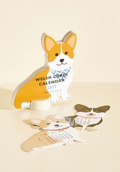 Year of the Critter 2017 Calendar in Corgi - Multi, Print with Animals, Print, Critters, Dog, Good, Brown, White, Multi, Work, Dorm Decor, Statement, Quirky, Nifty Nerd, Winter, Gals, Under $20, Critter Gifts, Under 50 Gifts, Under 25 Gifts, Store 1, Unique Gifts, Tis the Season Sale