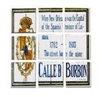Bourbon St Tile Mural  replicas on sale now at Fig Street Studio #nola