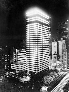 Seagram Building at Night