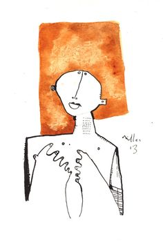 Oaths No. 1  Ink and Watercolor Drawing on Paper by mellonfineart, $50.00