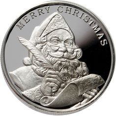 Santa Claus 1 oz .999 Fine Silver Round 2009 Merry Christmas Peace Joy 2519