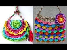 Bolsa para Niña Tejida a Crochet!! SUuUuPer Divertida!!-Video #1 - YouTube