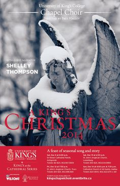 The University of King's College Chapel Choir in 'A King's Christmas' Saturday, December 13 at 4:00 pm St. John's Anglican Church in Lunenburg Tickets: $25 general ($20 in advance) | $10 student Available from Shop on the Corner, 263 Lincoln Street, Lunenburg (cash only); by reservation from the MR Box Office at (902) 634-9994 or stjartsalliance@eastlink.ca; and at the door. Anglican Church, King's College, Box Office, Choir, Lincoln, Cathedral, December, University, Corner