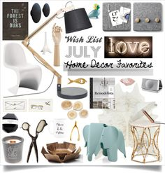 """""""Wish List Home Decor Favorites #July"""" by gabree on Polyvore"""