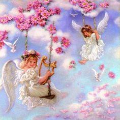Angels on swings