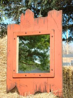 Barnwood Framed Bathroom Mirrors rustic mirror - 30x36 mirror with beveled barn wood frame