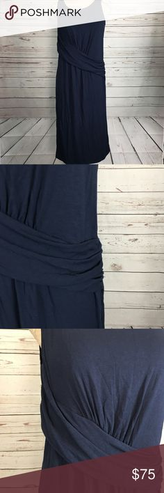 Fabletics Jersey Dress NWT. Navy blue. Ruched detail. Fabletics Dresses Midi