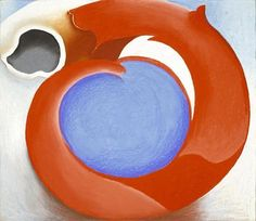 Georgia O'Keeffe / Goat's Horn With Red / 1945 / Pastel on paperboard, mounted on paperboard