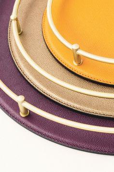 Giobagnara Rondo tray #leather #accessory - Agentia UK