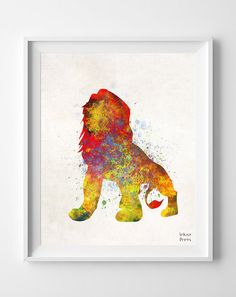Lion King Disney Father's day Mufasa Poster Print by InkistPrints, $11.95