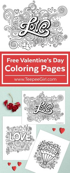 Free Valentine's Day Coloring Pages Valentines Day Coloring Page, Valentine Day Love, Valentines Day Party, Valentine Day Crafts, Holiday Crafts, Holiday Fun, Kids Crafts, Happy Hearts Day, Valentine's Day Printables