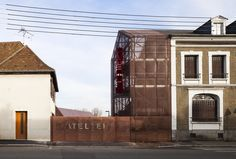 Built by AAVP Architecture in Capelle-les-Grands, France with date 2013. Images by Luc Boegly. In the town centre, close to the Place d'Armes, the town of Gournay-en-Bray has just completed a cultural centre whic...