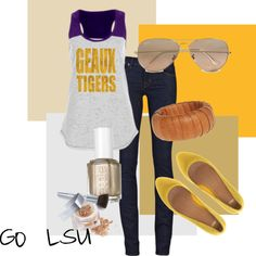 """""""LSU """"Geaux Tigers!"""""""" by bncollege on Polyvore"""