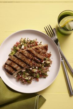 Turkey and Tabbouleh from familycircle.com #myplate #grill