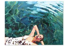 T.S. Harris, Floating Girl | Drawings, Paintings & Photographs | One Kings Lane