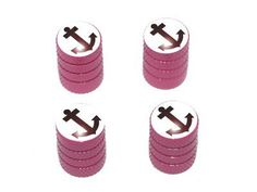 Anchor Boat - Tire Rim Valve Stem Caps - Pink Car Accessories | Girly Car Accessories