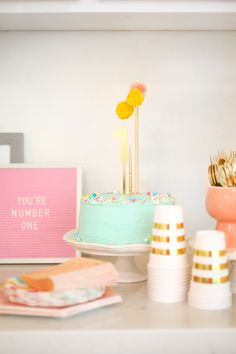 A sweet and simple 1st birthday party. Lovely Indeed