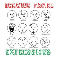 The facial expressions come in handy when drawing comics with kids...And it teaches them about ranges of feelings.: