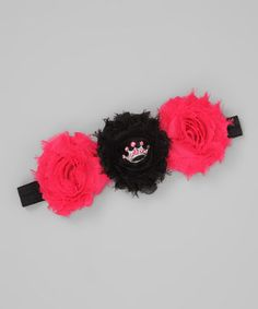 Take a look at this Pink Princess Deluxe Shabby Rose Headband by Super Twirl on #zulily today!
