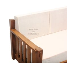 Classic style pull out sofa cum bed made in solid teak Pull Out Sofa Bed, Wooden Sofa, Teak Furniture, How To Make Bed, Teak Wood, Classic Style, Storage, Diy, Purse Storage