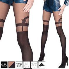 Gatta Pistole Tattoo Feinstrumpfhose Damen Strümpfe Lycra Strumpfhose Muster SML in Kleidung & Accessoires, Damenmode, Socken & Strümpfe | eBay!