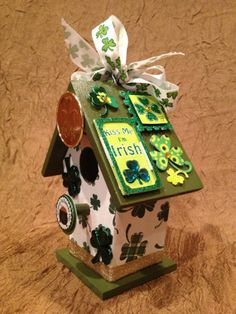 ST PATRICK'S DAY Handmade Wood Birdhouse  by BirdhouseGiftGallery, $15.00