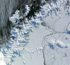Larsen Ice Shelf, in the north-west part of the Weddell Sea