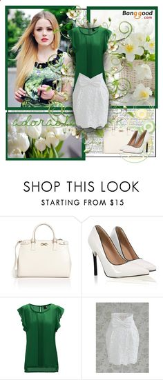BANGGOOD.COM 10 by blagica92 ❤ liked on Polyvore featuring Salvatore Ferragamo, Spring, GREEN, BangGood and spring2014