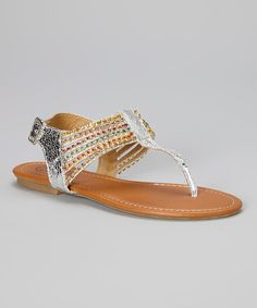 Take+a+look+at+the+Silver+Rhinestone+Ankle-Strap+Sandal+on+#zulily+today!