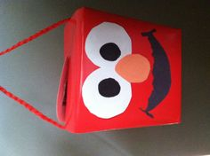 Elmo #treat/goody bag/box #Red Chinese food container #1st Birthday #party #elmo #inexpencive