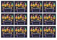 Emoji Name Tags – Birthday Printable
