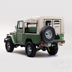 "1,645 Likes, 9 Comments - The FJ Company (@fjcompany) on Instagram: ""Others may stop and stare. . Take a closer look at this restored FJ43 at ‪#fjco1984fj43MatteGreen .…"""