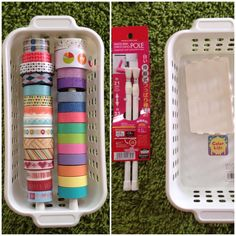 Small Stretchable Pole & Basket Both from Daiso J