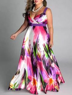 Colorful Printed Plus Size Midi & maxi dress maxi dress outfit maxi dress summer maxi dress casual floral maxi dress boho maxi dress Modest Maxi Dress, Plus Size Maxi Dresses, Plus Size Outfits, Casual Dresses, Dresses Dresses, Ivory Dresses, Pageant Dresses, Long Dresses, Silk Dress