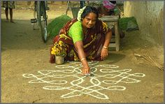 How -to - Indian Rangoli drawing