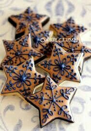 Cookies christmas star holidays 60 ideas for 2019 Cookies christmas star holidays 60 ideas for 2019 Snowflake Cookies, Star Cookies, Fancy Cookies, Iced Cookies, Cute Cookies, Cupcake Cookies, Cookies Et Biscuits, Cupcakes, Christmas Sugar Cookies