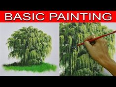 How to Paint a Weeping Willow Tree in Step by Step Acrylic Painting Tutorial for Beginners - YouTube