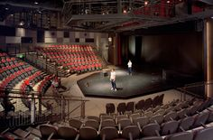 In theatre, a thrust stage (also known as a platform stage or open stage) is one that extends into the audience on three sides and is connected to the ...