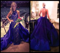 Miss Stronach Group USA 2015 Brittany Payne evening gown was a blue ball gown with a low, sexy back and. Read more here! Pagent Dresses, Pageant Gowns, Homecoming Dresses, Pageant Wear, Purple Gowns, Blue Ball Gowns, Special Dresses, Queen, Stunning Dresses